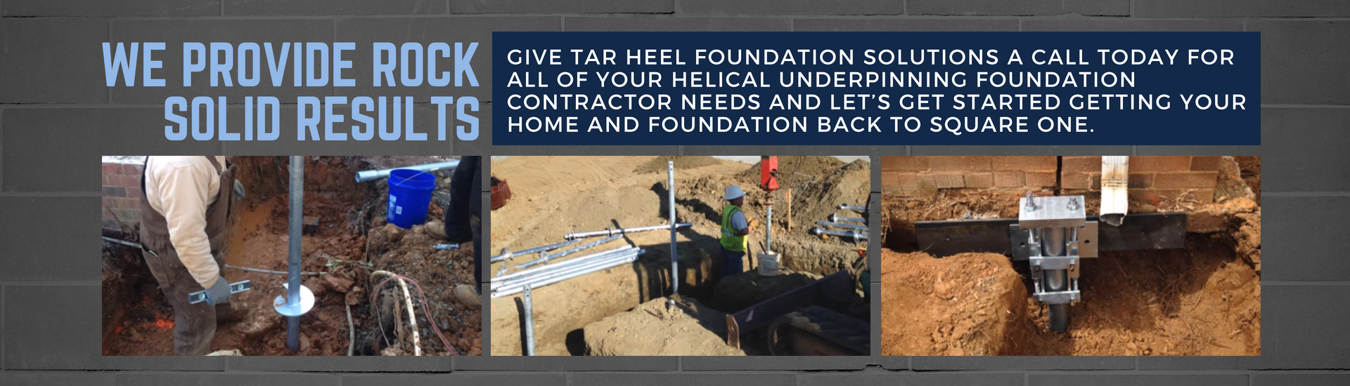 tar heel foundation solutions banner