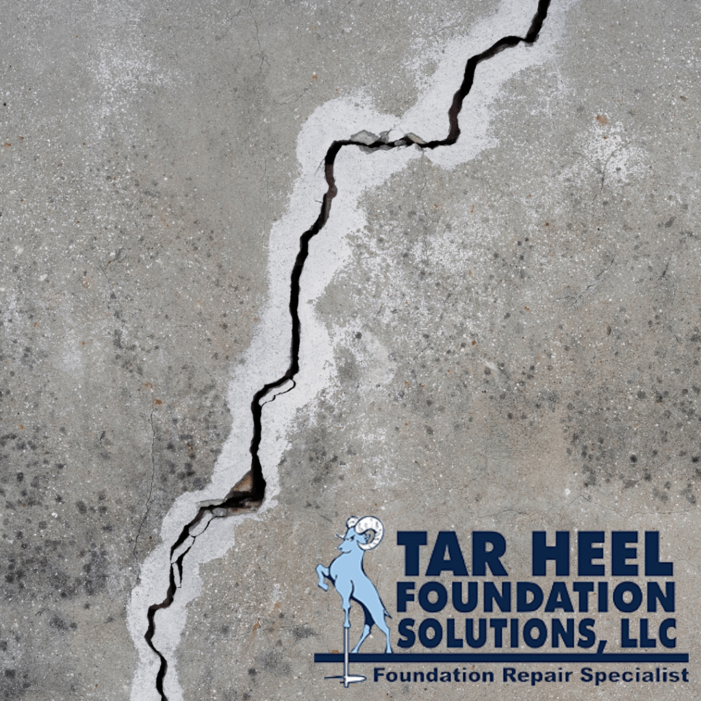 Foundation cracks may be repaired using pressure grouting